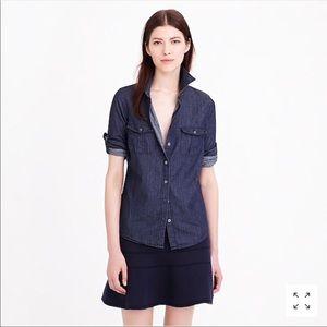 J crew chambray shirt size 10